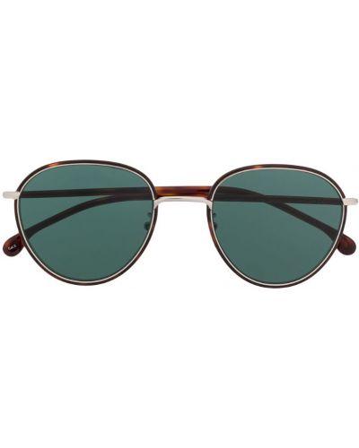 Прямые муслиновые солнцезащитные очки хаки Paul Smith Eyewear