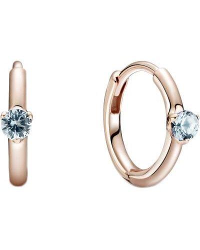 Золотистые серьги-кольца золотые позолоченные Pandora