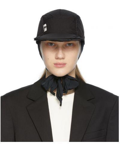Czarna czapka z haftem z nylonu Ader Error