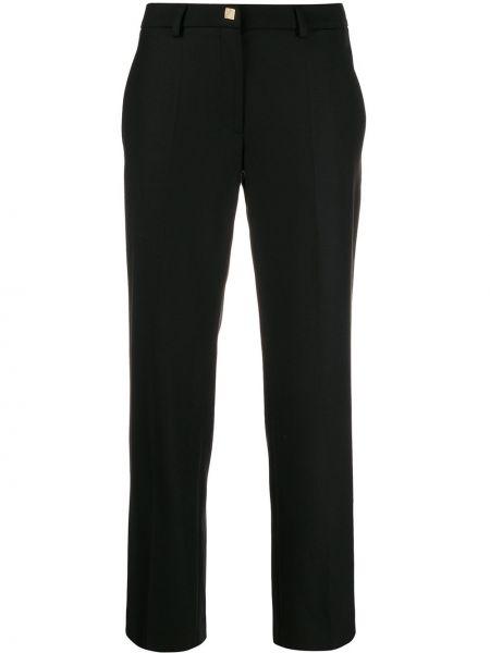 Черные брюки с воротником с поясом Versace Collection