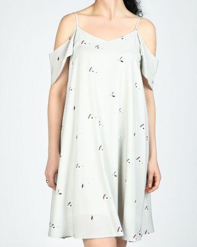 Платье серое платье-сарафан Glam Casual