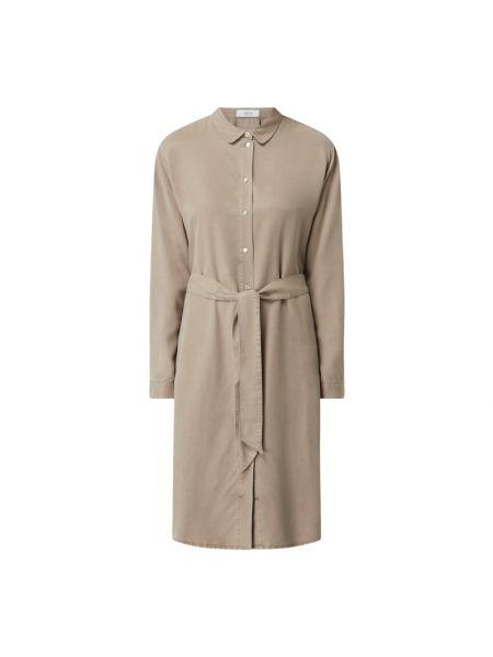Sukienka rozkloszowana z długimi rękawami - beżowa Blonde No. 8