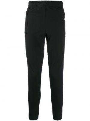 Czarne spodnie wełniane z siateczką Satisfy