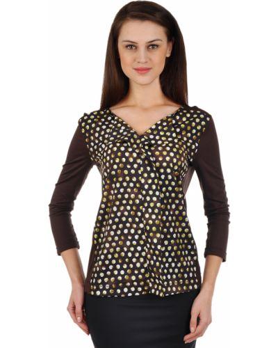 Блузка из вискозы - коричневая Luisa Cerano