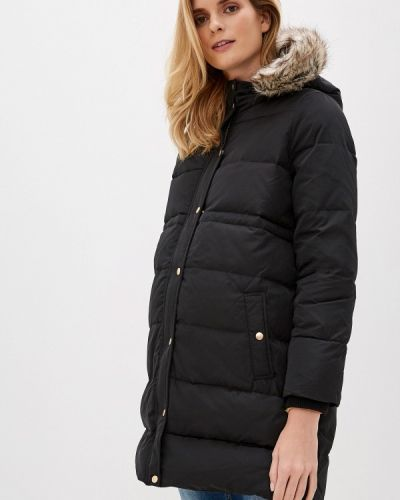 Зимняя куртка осенняя черная Mama.licious