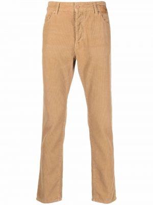 Spodnie skorzane - beżowe Palm Angels