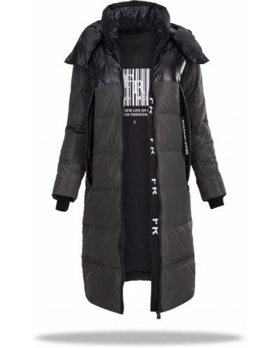 Пальто с капюшоном - хаки Freever
