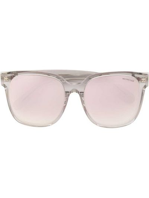 Różowe okulary srebrne Moncler Eyewear