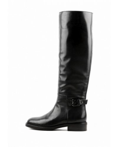 Кожаные сапоги - черные Basconi