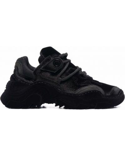 Czarne sneakersy koronkowe N°21