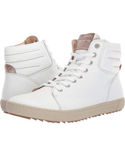 Кожаные высокие кроссовки - белые Birkenstock