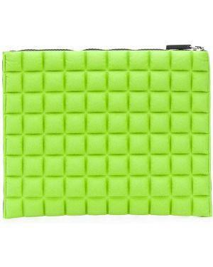Zielona kopertówka pikowana z nylonu No Ka' Oi