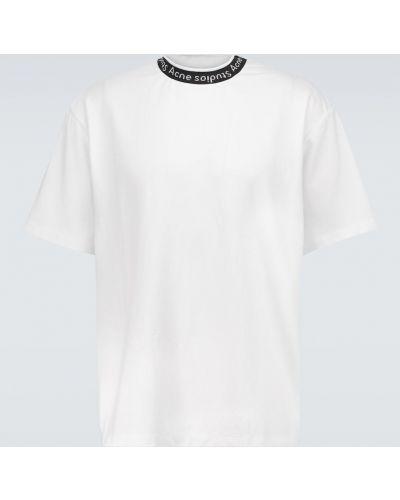 Белая футболка из вискозы Acne Studios
