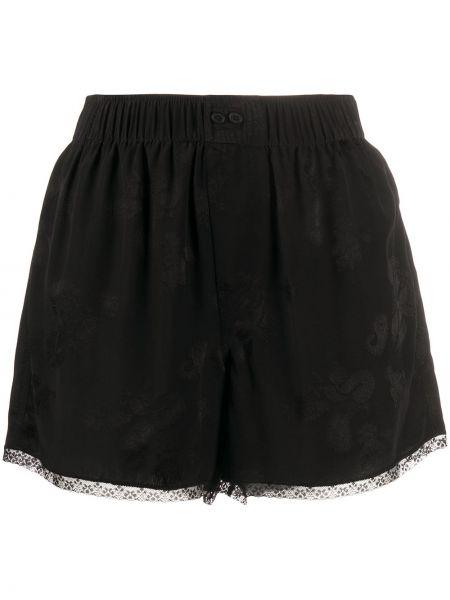 Ажурные черные короткие шорты Zadig&voltaire
