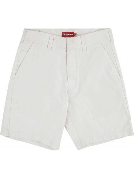 Bawełna biały klasyczny krótkie szorty z kieszeniami Supreme