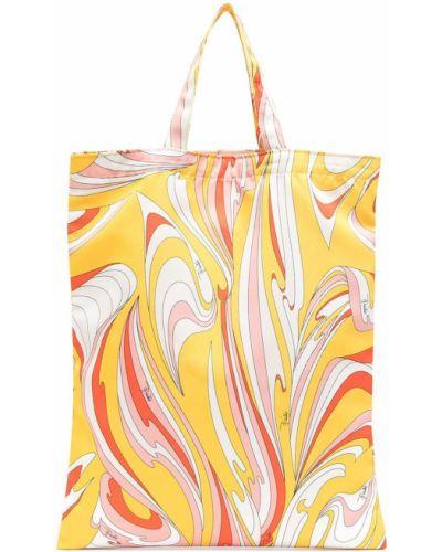 Żółta torebka z printem Emilio Pucci