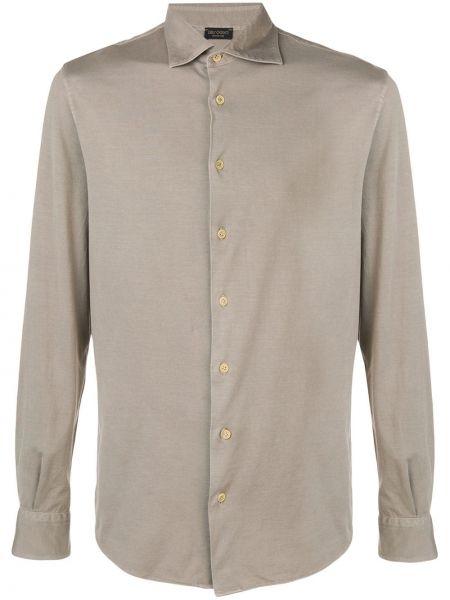 Koszula z długim rękawem wyposażone długa Dell'oglio