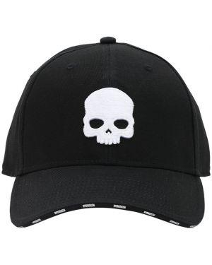 Czarna czapka z haftem Hydrogen