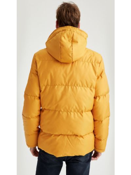 Куртка с капюшоном - желтая Defacto
