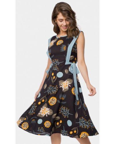 Черное платье весеннее Mr520