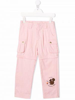 Różowe spodnie bawełniane Mini Rodini