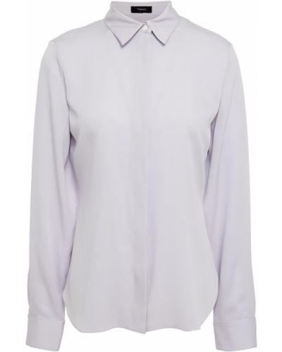 Сиреневая шелковая рубашка Theory