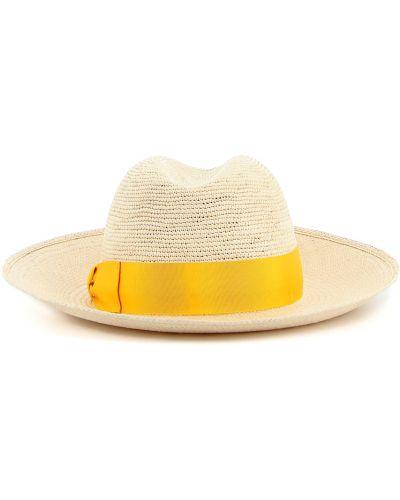 Żółta czapka Borsalino