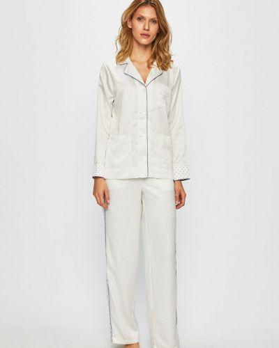 Пижама с брюками с карманами бежевая Lauren Ralph Lauren