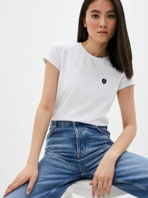 Белая футболка с короткими рукавами Galvanni