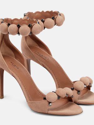 Розовые туфли Alaïa