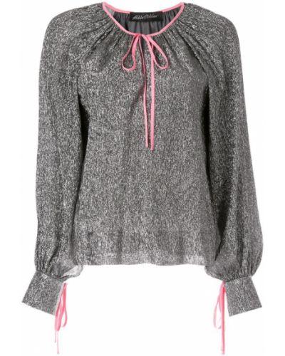 Блузка с рюшами с завязками Anna October