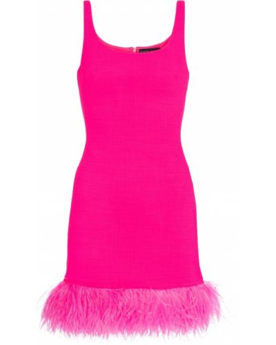 Różowa sukienka koktajlowa wełniana David Koma