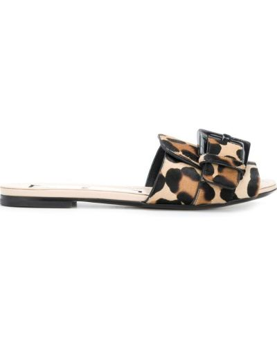 Сандалии коричневый леопардовые N21