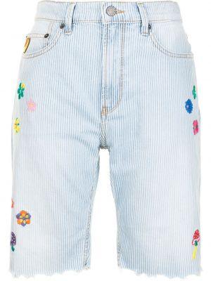 Синие хлопковые джинсовые шорты на пуговицах Mira Mikati