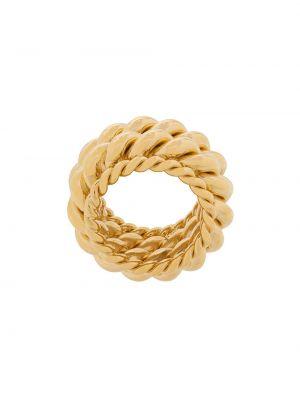 Złoty pierścionek pozłacany Isabel Lennse
