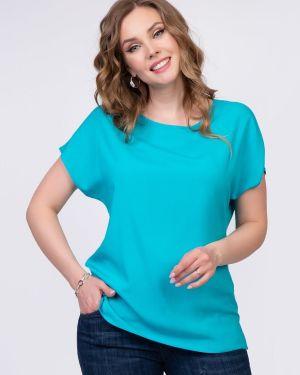 С рукавами деловая блузка без рукавов из вискозы с разрезом Diolche