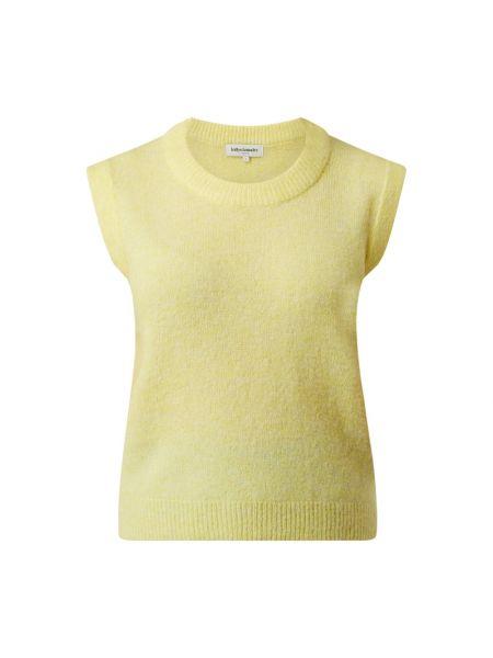 Prążkowana żółta kamizelka wełniana Lollys Laundry