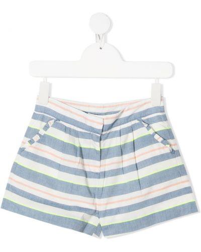 Синие хлопковые шорты в морском стиле Knot