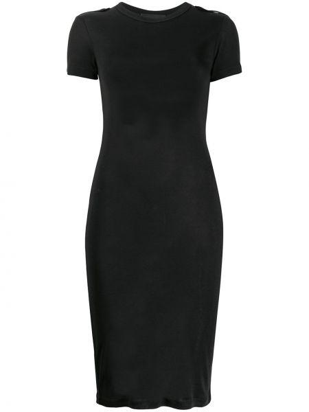 Платье миди футболка в рубчик Helmut Lang