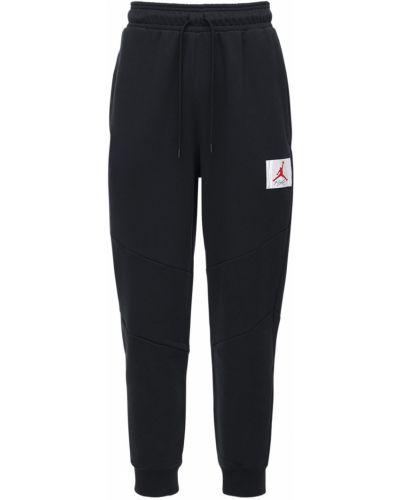 Bawełna ze sznurkiem do ściągania czarny joggery z haftem Nike