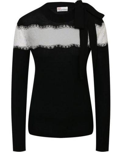 Трикотажный белый пуловер Redvalentino