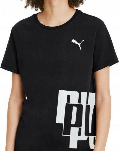 Bawełna bawełna czarny t-shirt do salonu Puma