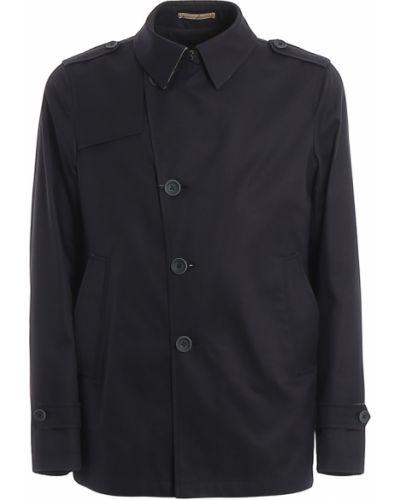 Jednorzędowy płaszcz od płaszcza przeciwdeszczowego z kieszeniami Herno