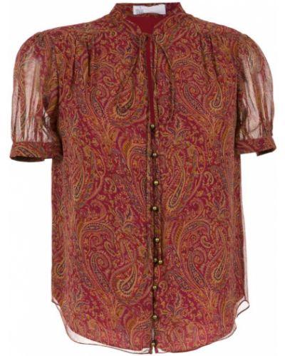 Блузка с коротким рукавом прямая с узором пейсли НК