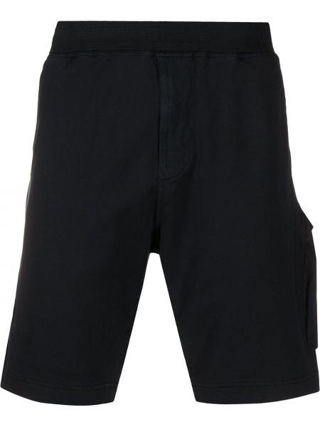 Короткие шорты на резинке с карманами Stone Island