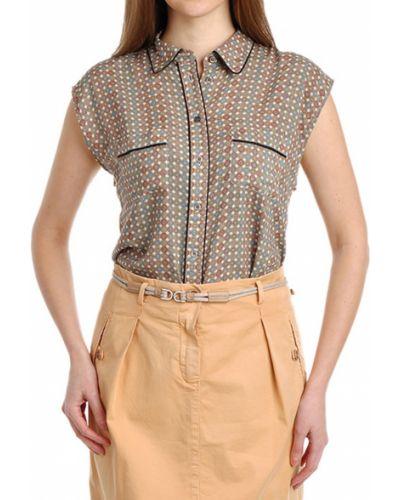 Блузка из вискозы весенний Paul & Joe