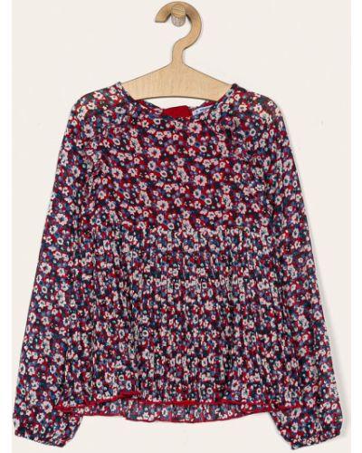 Блуза красная из вискозы Mayoral