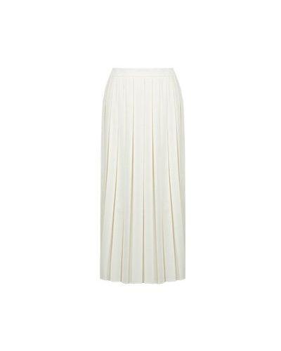 Шерстяная белая юбка миди Luisa Spagnoli