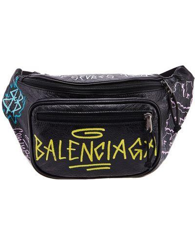 Кожаная сумка через плечо поясная Balenciaga