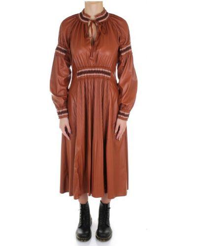 Brązowa sukienka długa Beatrice B